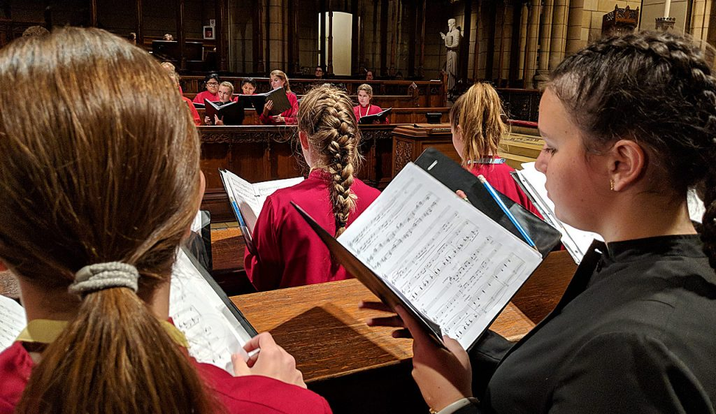 Girl Chorister Course participants in choir